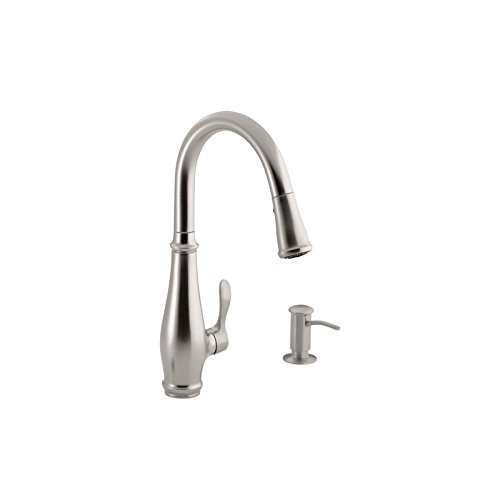 Kohler K-780-VS Cruette Pull-Down Kitchen Faucet, Vibrant Stainless Steel