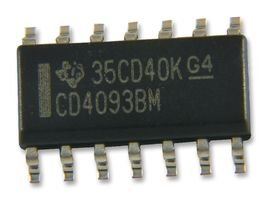 LOGIC, NAND SCHMITT TRIGGER, SOIC-14 CD4093BM By TEXAS INSTRUMENTS CD4093BM-TEXAS INSTRUMENTS
