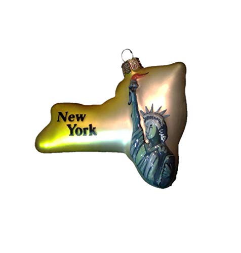 New York State Statue of Liberty Glass Ornament