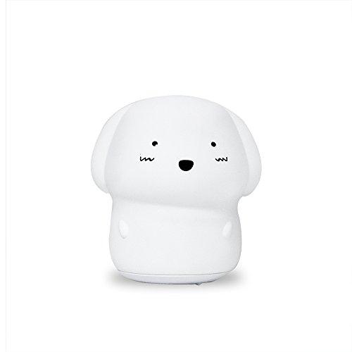 Lampara De Noche Para Bebe y Niños Con Luz Led Y Micrófono. De Suave Silicón. Batería Recargable USB, Luz Suave y 8...