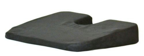 Mc Carty's Sacro-Ease Komfort Kush Wedge Seat Support Cushion, Black ()
