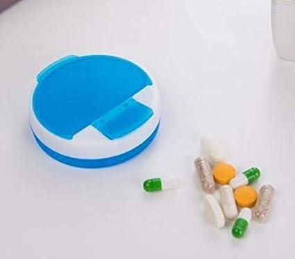 QWhing - Estuche Giratorio con 4 Ranuras para medicinas, Estuche para Pastillas, dispensador de