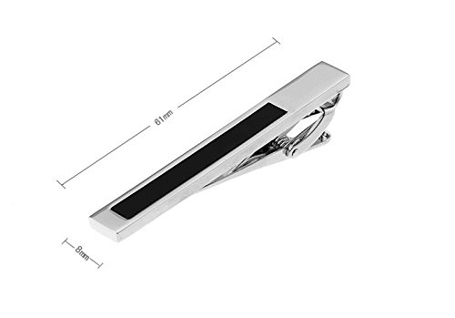 Tieclip William - black - Business Wedding Gift Present Accessories for Men by The Little Link (Image #2)