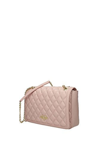 Strap Womens Moschino Chain Quilted Crossbody LOVE Pink Tfqxqw
