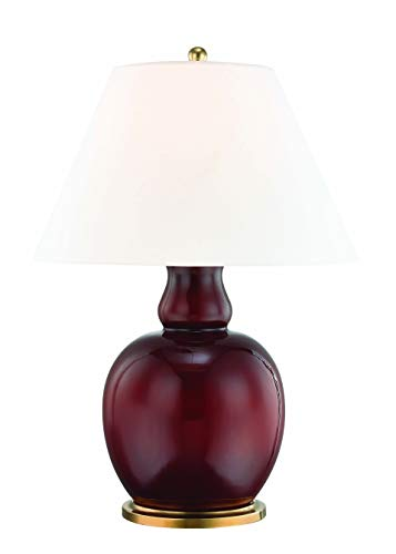 Hudson Valley L1048-IOBR Tang Table Lamps, 1-Light 60 Watts, Imperial Ox Blood Red