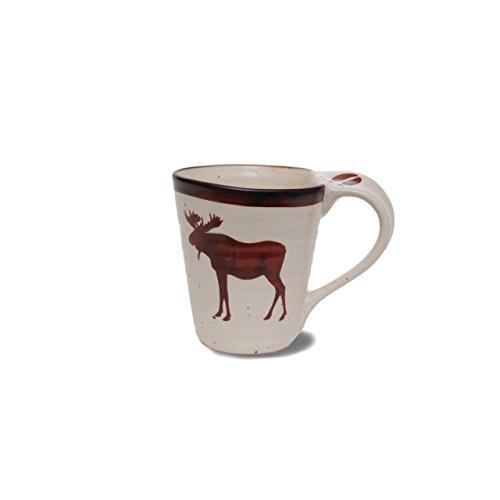 - Demdaco 3005051071 Big Sky Carvers Brushwerks Moose Mug Set, Multicolored