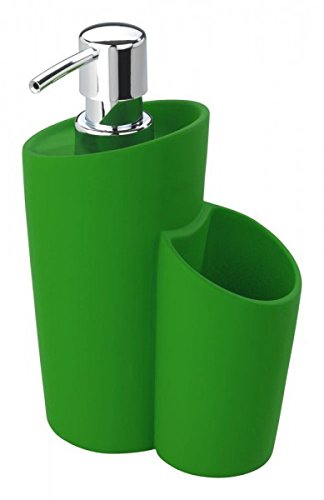 Wenko dispensador de jabón cerámica con Revestimiento de Soft Touch - - Dispensador para lavavajillas - Dispensador de jabón líquido jabón, cerámica, ...