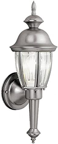 Vaxcel OW3112BN Capital 6-Inch Outdoor Wall Light, Brushed Nickel