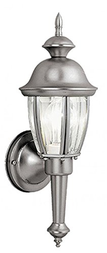 Brushed Nickel Outdoor Light Fixture - 7