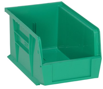 Quantum QUS221GN Green Ultra Stack and Hang Bin, 9-1/4