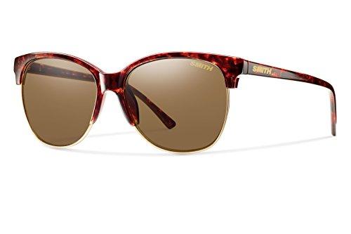 Smith Optics Rebel Carbonic Polarized Sunglasses, Vintage Havana, Brown