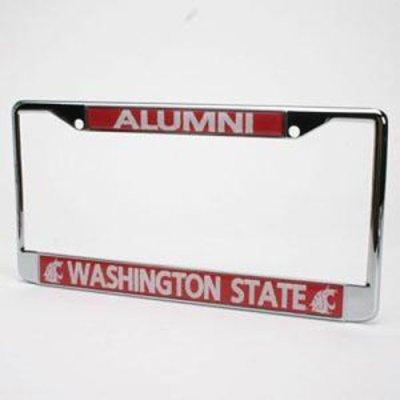 Washington State Acrylic - Washington State Cougars Alumni Metal License Plate Frame W/domed Insert