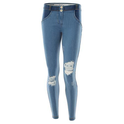 Fred Perry Denim Jaune Le Jeans sur Devant avec Effacer Skinny UP Basse XXS en WR Coutures Taille rapics dtails Vrai grdRqgA