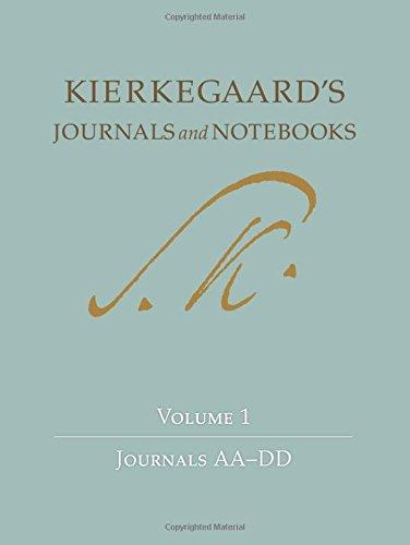 Soren Kierkegaard's Journals and Notebooks, Vol. 1: Journals AA-DD