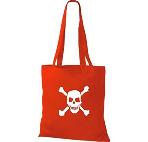 Tela Mujer Shirtinstyle Para Algodón Red Bolso De Bright qXwgzwBEn