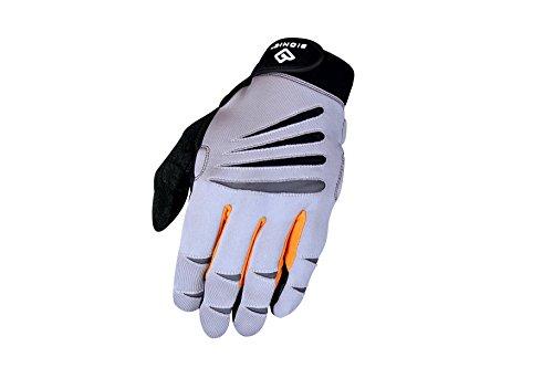 Bionic Men's Cross-Training Full Finger Gloves, Gray/Orange, Medium - Mens Full Finger