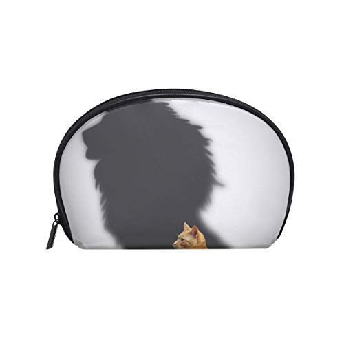 Makeup Bag Shadow Cat Lion Face Animal Cosmetic Pouch Clutch -
