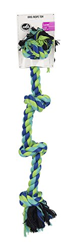 "Pet Champion 4 Knot 21"" Rope Dog Toy, Large, Assorted, Blue/"