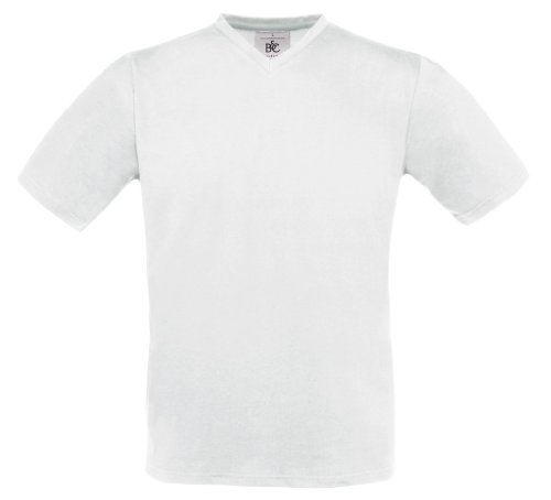 Exact V-Neck T-Shirt, Farbe:White;Größe:M