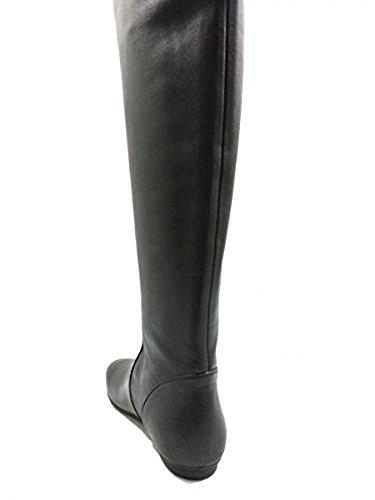 Zapatos Mujer HOGAN 36 EU Botas Cuero Negro AZ185
