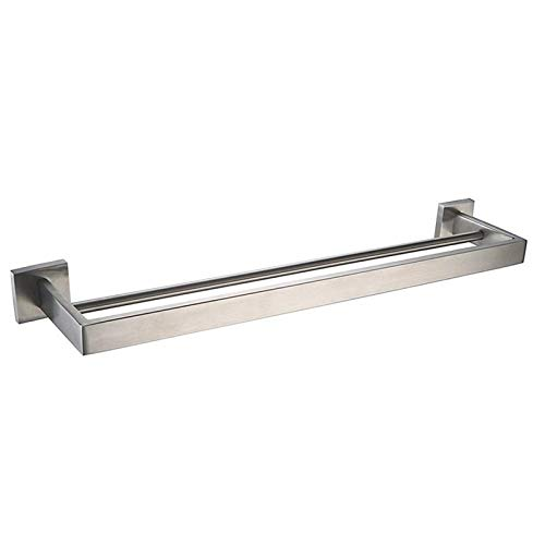 LOVELY Double Square Towel Bar Wall Mounted 304 Stainless Steel Towel Holder Bath Modern Towel Rail Bathroom Accessories Brushed Nickel