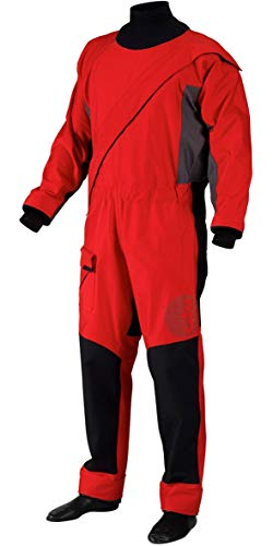 (Gill Men's Waterproof Breathable Pro Drysuit, Red,)