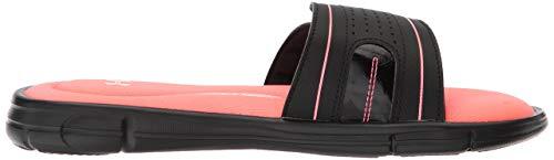 UNDER ARMOUR Women's Ignite VIII Slide Sandal, Black (004)/Brilliance, 9