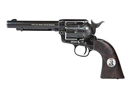 amazon com duke colt co2 pellet revolver weathered air pistol