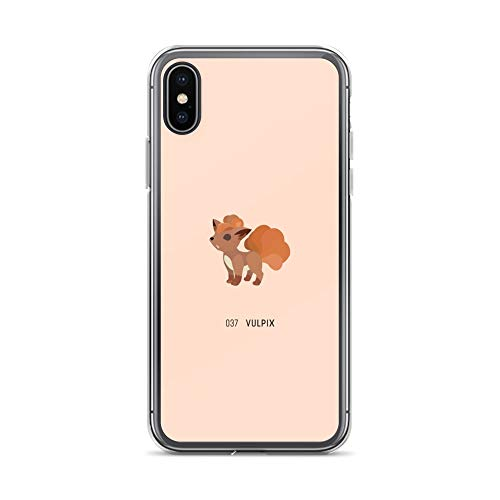 iPhone X/XS Case Anti-Scratch Gamer Video Game Transparent Cases Cover 037 Vulpix Gaming Computer Crystal Clear