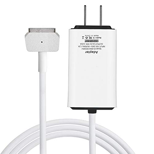 Wakeach Mini Charger for MacBook Pro 13 inch Retina 60W Magnetic 2 T-Tip Wall Charger (Made After Late 2012) mbp A1425 A1435 A1465 A1502 Charger Laptop Power Adapter Portable Ultra Light (Difference Between Macbook Pro With Retina Display)