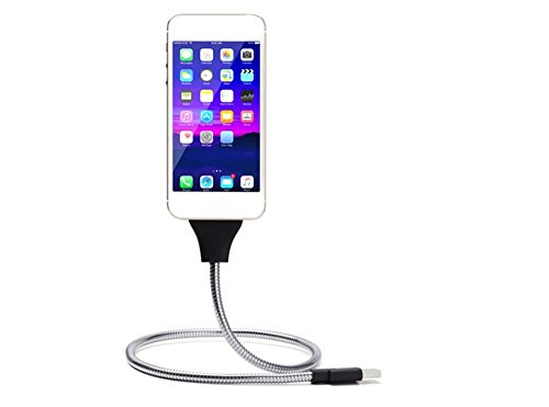 wopow-50cm-flexible-metal-usb-data-cable-mobile-phone-stand-holder-usb-charging-cord-for-iphone-6-7