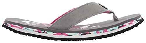 CoolShoe Damen Zehensandalen Grau Pink