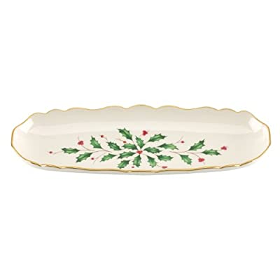 Lenox Holiday Open Weave Bread Basket