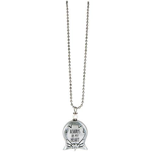 Always in My Heart 30 Inch Silvertone Metal Angel Bell Woman's Pendant Necklace -