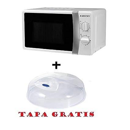 Microondas Jocel JMO011404, 20 L, 800 W, Blanco + tapa para micro ...