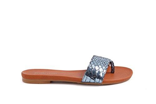 Pretty Water Sandalo Pelle Nana In infradito Donna Metallic Sandal 150140 Nora flat Uq7SUa