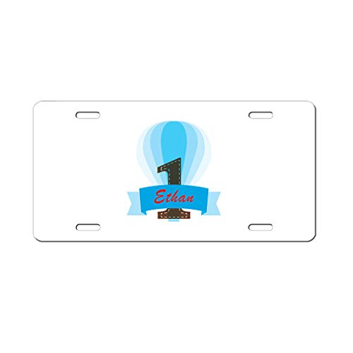 Style In Print Personalized Custom Text Blue Baloon Aluminum Car License Plate]()