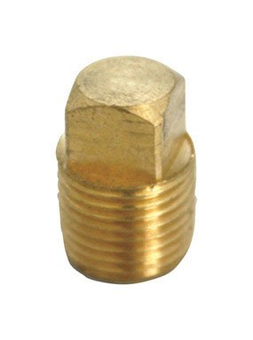 Jmf Brass Square Head Cored Pipe Plug Lead - Plug Head Pipe Cored