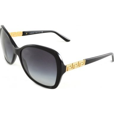 Versace VE4271B GB1/8G Black VE4271B Square Sunglasses Lens Category 3 Size 58m