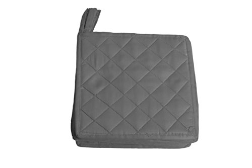 Well-made of durable and comfortable 100% cotton 9'' x 9'' Inches Pot Holder Non-Slip & Highest Protection & Performance '' Color - Dark Grey Color '' - { Pack of 100 } - Made By HM Covers by HM Covers