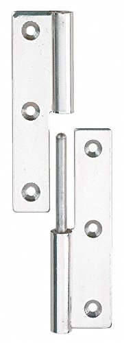 1-1/2 x 2-61/64 Stainless Steel Lift-Off Hinge With Holes and Not Rated Load Capacity by LAMP