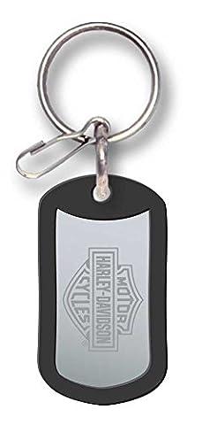 Harley-Davidson Bar & Shield Metal Rubber Tag Key Chain P4286