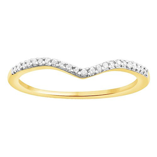 Round Cut 0.08 ct Cubic Zirconia V Shape Half Eternity Band Ring In 925 Sterling Silver