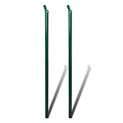 """K&A Company Fence Panels, Chain-Link Fence Set Posts Spike Anchors & Fittings 4'11""""x82'"""