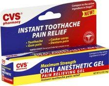 Maux de dents instantanée Pain Relief 0,25 oz par cvs