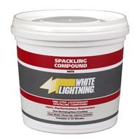 White Lightning WL60520 One Step Lightweight Spackling Compound, White, 1 - Sanding Devil Glass Tool