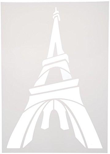 - Culture Club 10981Stencil Machine A4Plastic Eiffel-Statue Tower Monuments liberté-Big Ben-Tour pise-Tower Bridge-taj Mahal Assorted Colours