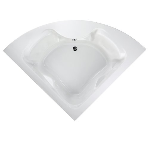 American Standard 2775.002.020 Cadet Corner Bath Tub with Dual Lumbar Back Rest Positions, White