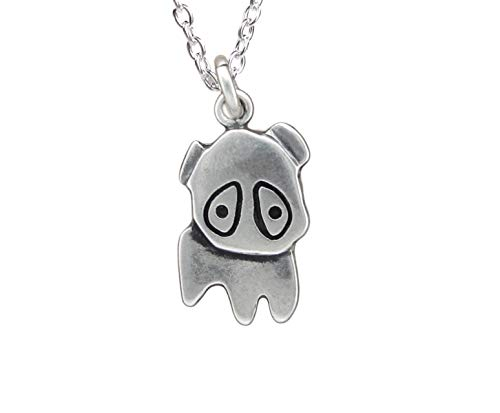 (Sterling Silver Pug Necklace)
