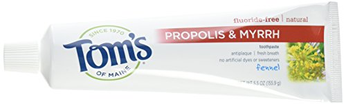 Toms of Maine Toothpaste Fennel Propolis Myrrh,5.5 Ounce (Pack of -